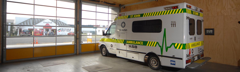 St Ambulance vehicle bay built by Waipukurau Construction